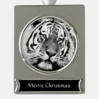 Tiger-Streifen Banner-Ornament Silber
