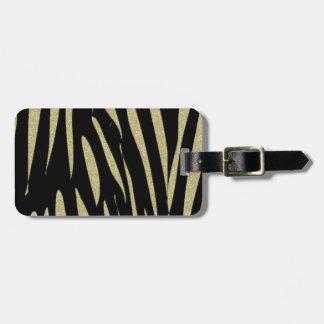 Tiger-Streifen-Druck-wilder Safari-Entwurf Kofferanhänger