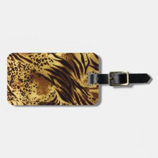 Tiger-Streifen-Safari-Druck-Gepäckanhänger Gepäckanhänger