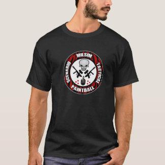 Tiger-Streifen-Szenariopaintball-Abzeichen T-Shirt