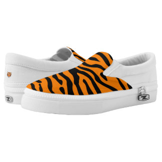 Tiger-Streifenbeleg auf Turnschuh Slip-On Sneaker