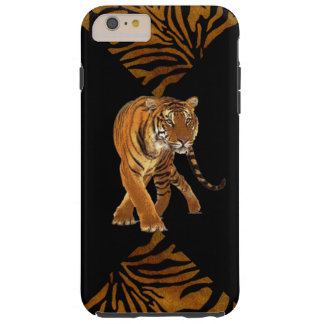 Tiger Stripes schwarzen Druck Tough iPhone 6 Plus Hülle