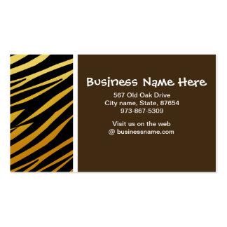 Tiger Stripes Visitenkarte