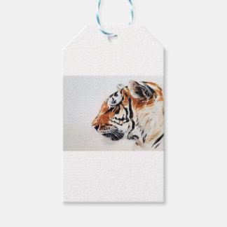Tiger-Tiernatur-Malerei-Aquarell-Profil Geschenkanhänger