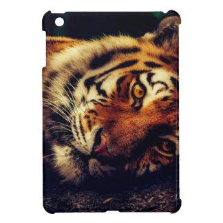 Tiger-Tierwild lebende tiere, die Makronahaufnahme iPad Mini Hülle