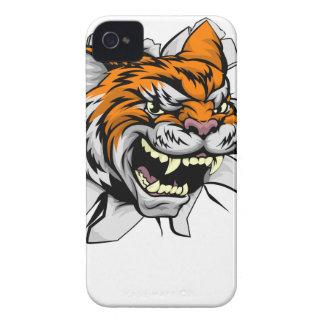 Tiger trägt das Maskottchen zur Schau, das durch Case-Mate iPhone 4 Hüllen
