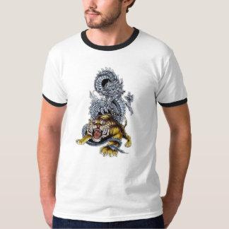 Tiger u. Drache-Kampf T-Shirt