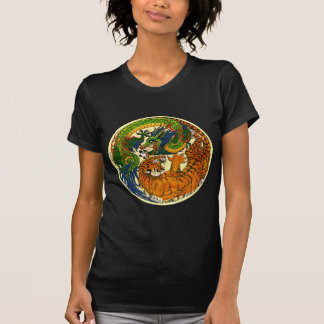 Tiger u. Drache Yin Yang T-Shirt