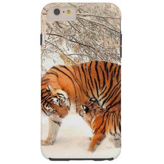 Tiger-und Baby-Tiger-Telefon-Kasten Tough iPhone 6 Plus Hülle