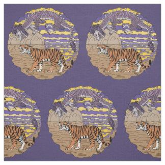 Tiger und Drache Stoff