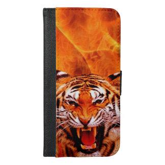 Tiger und Flamme iPhone 6/6s Plus Geldbeutel Hülle
