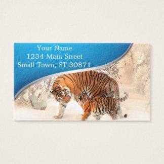 Tiger und Junges - Tiger Visitenkarte
