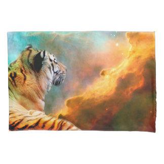 Tiger und Nebelfleck Kissen Bezug