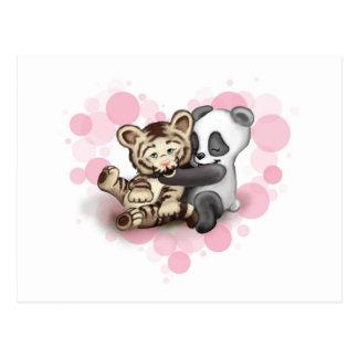Tiger und Panda Postkarten