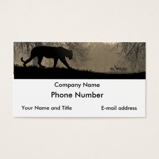Tiger und Rotwild Visitenkarte