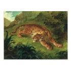 Tiger und Schlange, 1858 Postkarte