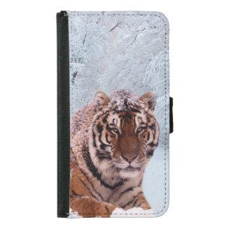Tiger und Schnee Geldbeutel Hülle Für Das Samsung Galaxy S5