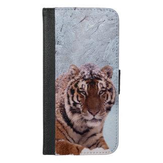 Tiger und Schnee iPhone 6/6s Plus Geldbeutel Hülle