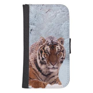 Tiger und Schnee Phone Geldbeutel