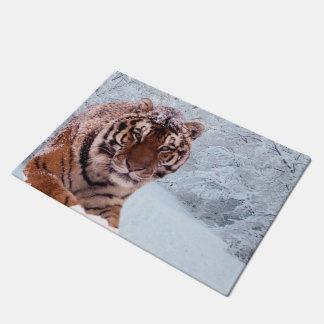 Tiger und Schnee Türmatte