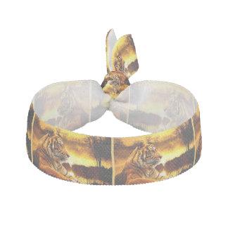 Tiger und Sonnenuntergang Haargummi