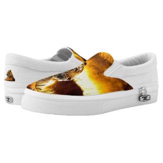 Tiger und Sonnenuntergang Slip-On Sneaker