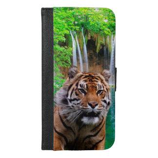 Tiger und Wasserfall iPhone 6/6s Plus Geldbeutel Hülle