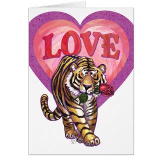 Tiger-Valentinstag Mitteilungskarte