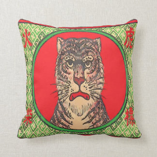 Tiger, Vintage japanische Kunst Kissen