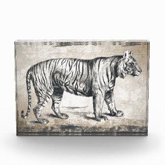 Tiger-Vintager wild lebende TiereGrunge dekorativ Auszeichnung