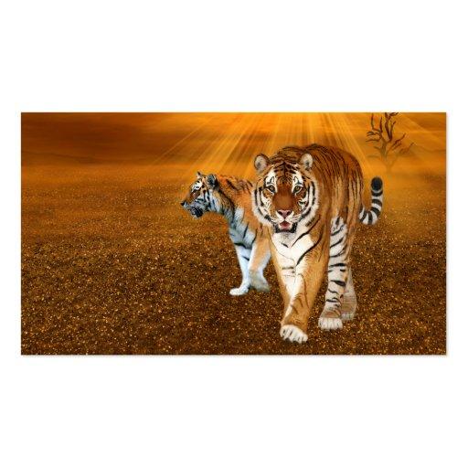 Tiger Visitenkarten Vorlage