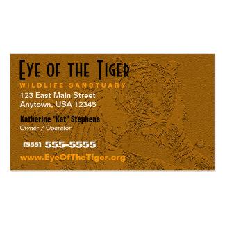 Tiger-Visitenkarte