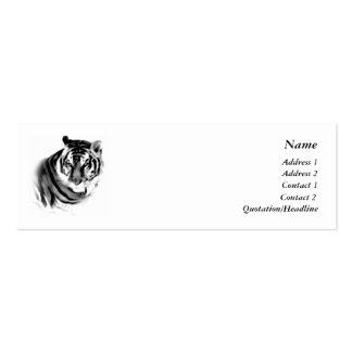 Tiger-Visitenkarte-Schablone Mini-Visitenkarten