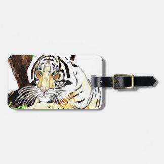Tiger von der Safari Kofferanhänger
