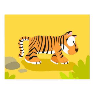 Tiger von meinem Welttiere serie Postkarte