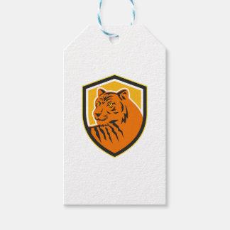 Tiger-vorderes HauptWappen Retro Geschenkanhänger