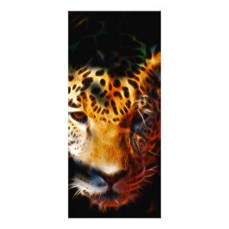 Tigerauftauchen Werbekarte