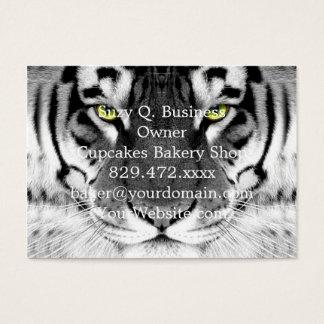 Tigergesicht - weißer Tiger - Augentiger - Tiger Visitenkarte
