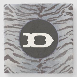 Tigerhaut im silbernen Blau Steinuntersetzer
