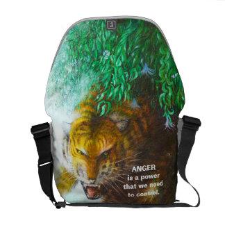 Tigerhinterhalt - wildes Tier Bote-Tasche Kurier Taschen