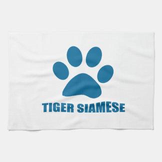 TIGERsiamesischer CAT-ENTWÜRFE Handtuch