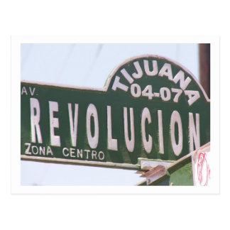 Tijuana-Straßenschild Postkarte