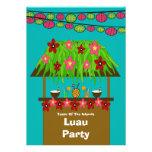 Tiki Hütte Aloha Luau PartyInvitation Personalisierte Ankündigungskarten