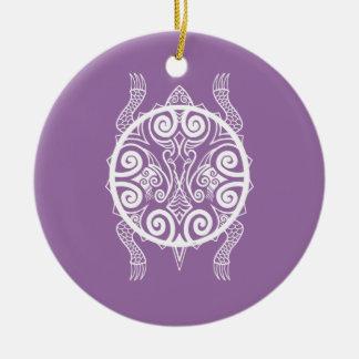 Tiki Kriegers-Schildkröte-Tätowierung Keramik Ornament