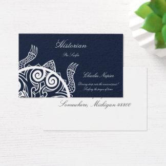 Tiki Kriegers-Schildkröte-Tätowierung Visitenkarte