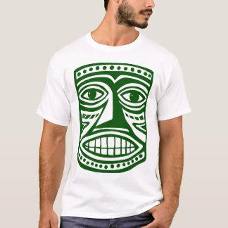 Tiki Maske III - DK grünen T-Shirt