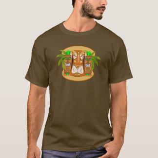 Tiki Masken-Palme-T - Shirt