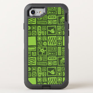 Tiki Muster OtterBox Defender iPhone 8/7 Hülle