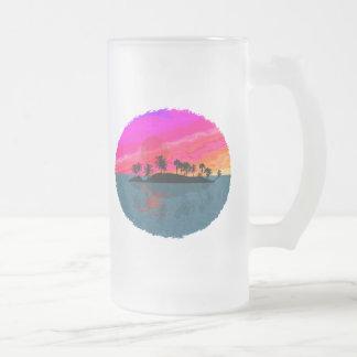 Tiki Sonnenuntergang Matte Glastasse