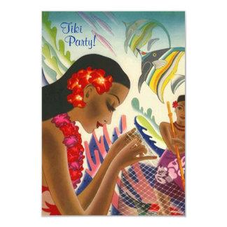 Tiki tropische Leu hawaiisches Luau Party Karte